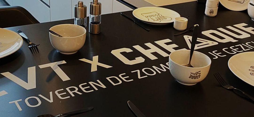 Project: Een zomers porselein i.s.m. Cheaque