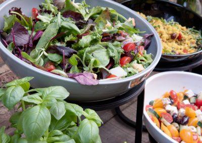 Craster: saladeschalen buffetpresentatie
