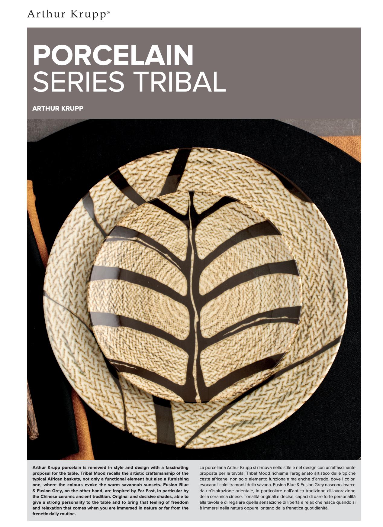 Arthur Krupp porselein Tribal