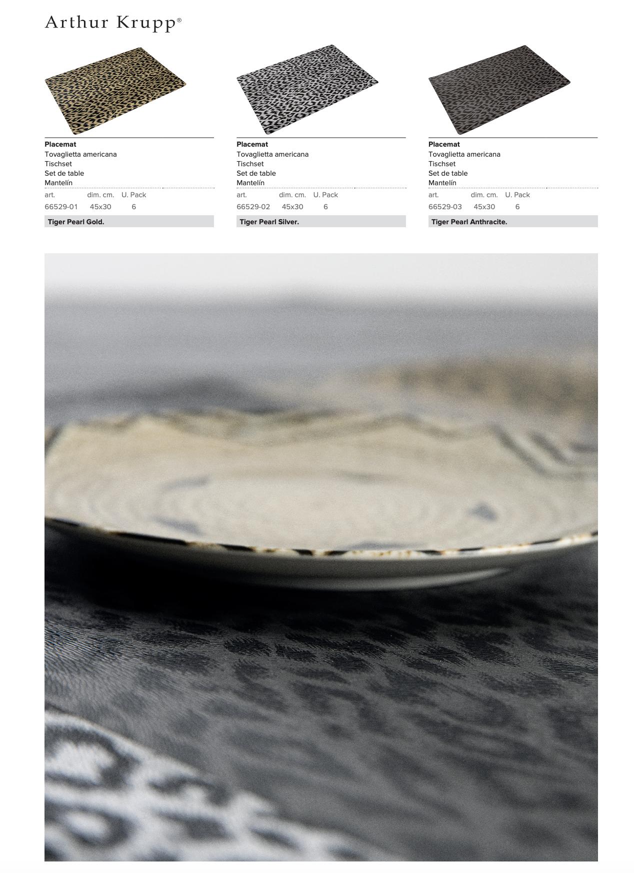 Arthur Krupp table mats EVA