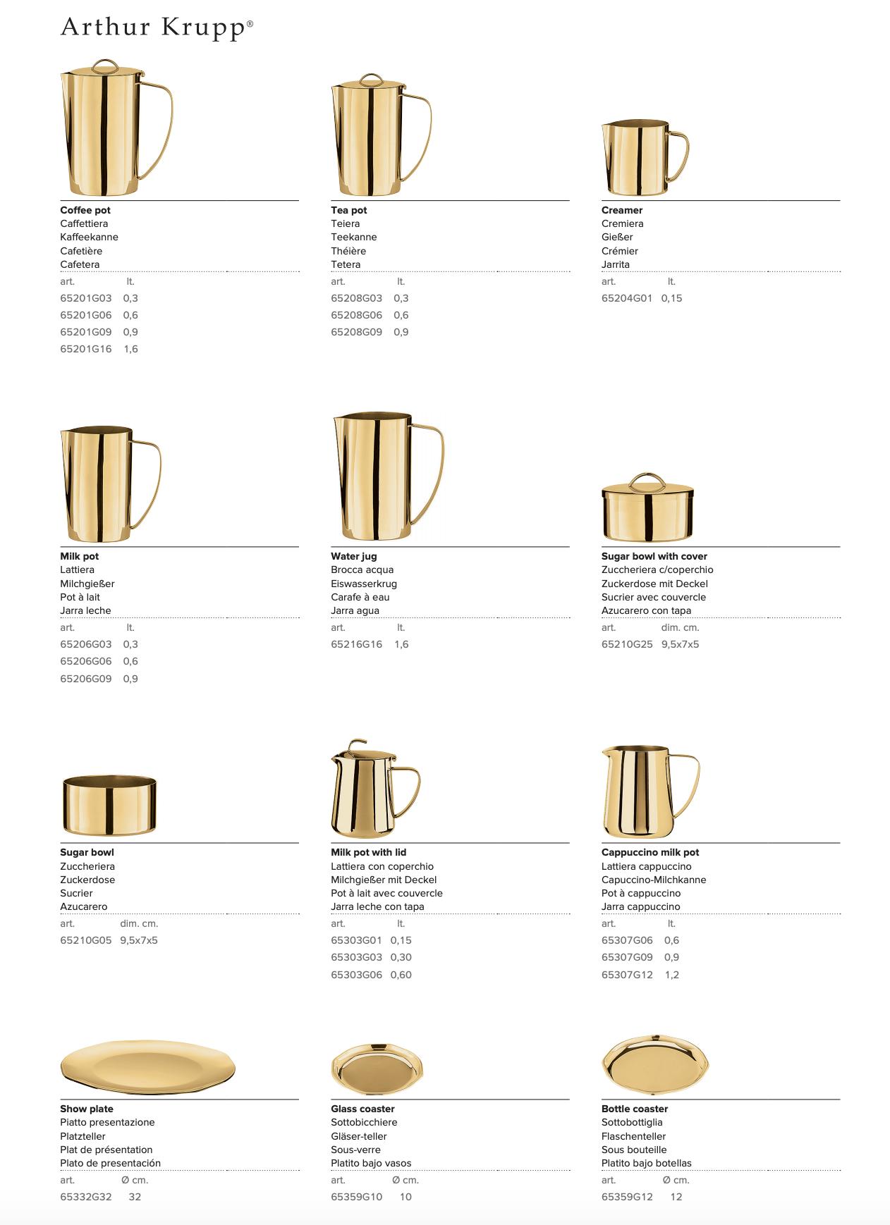 Arthur Krupp Series 652-653 champagne & gold