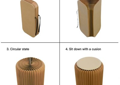 vauw-paper stool uitleg